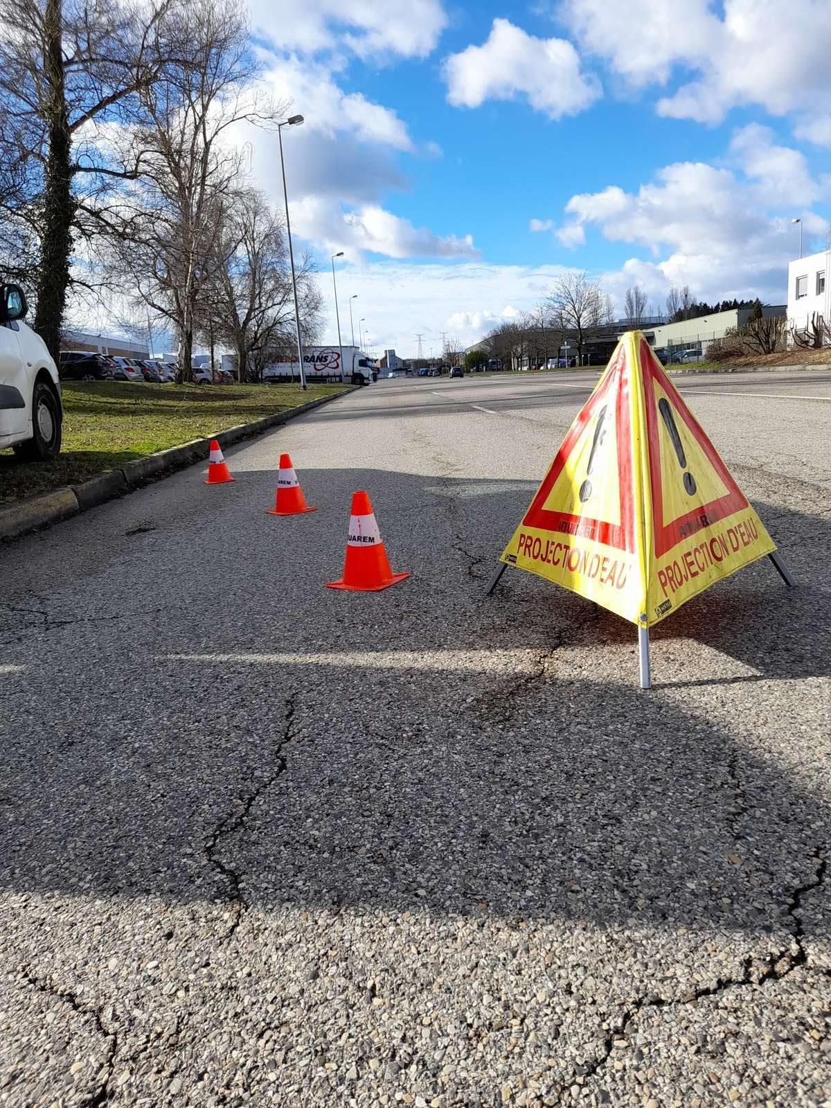 balisage, respect des règles de sécurité sur nos chantiers de maintenance et contrôle des poteaux incendie