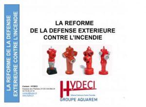 Le référentiel national de la défense extérieure contre l'incendie expliqué par hydeci