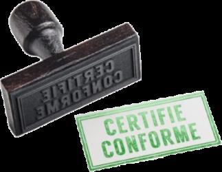 certifié conforme normes deci