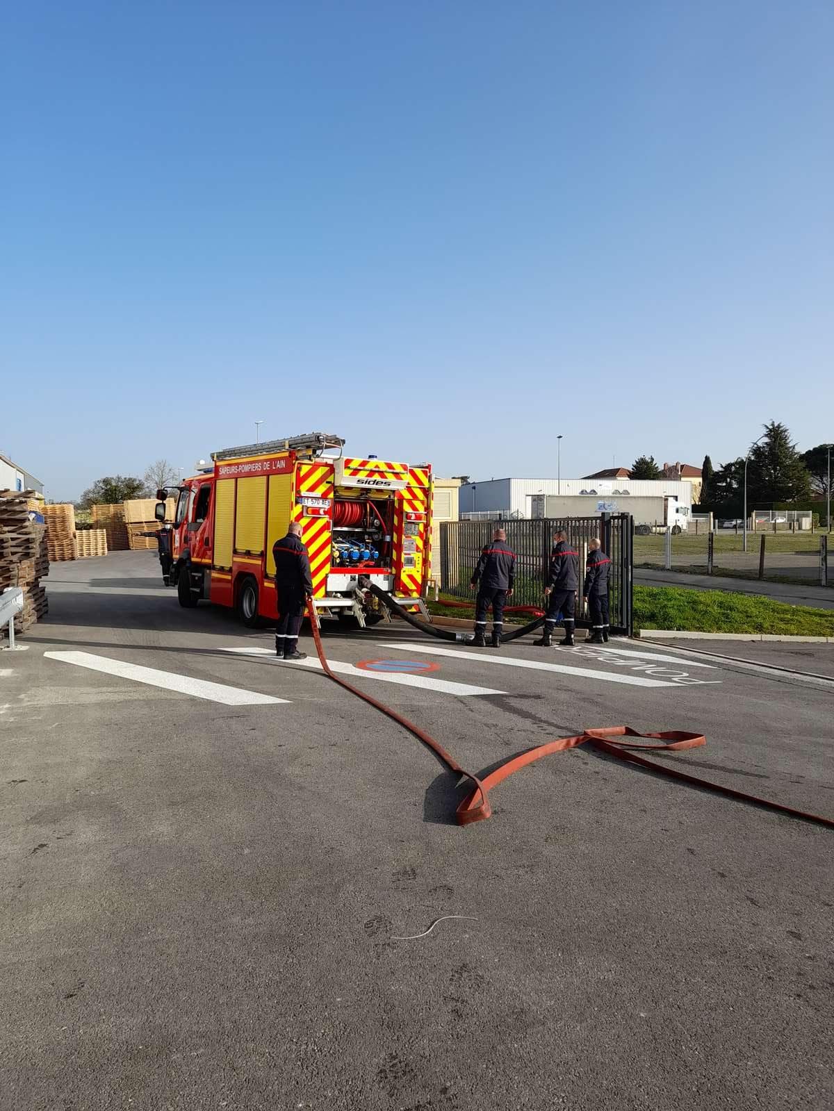 réception réseau de défense extérieur contre l'incendie par le SDIS de l'Ain service risques industriels