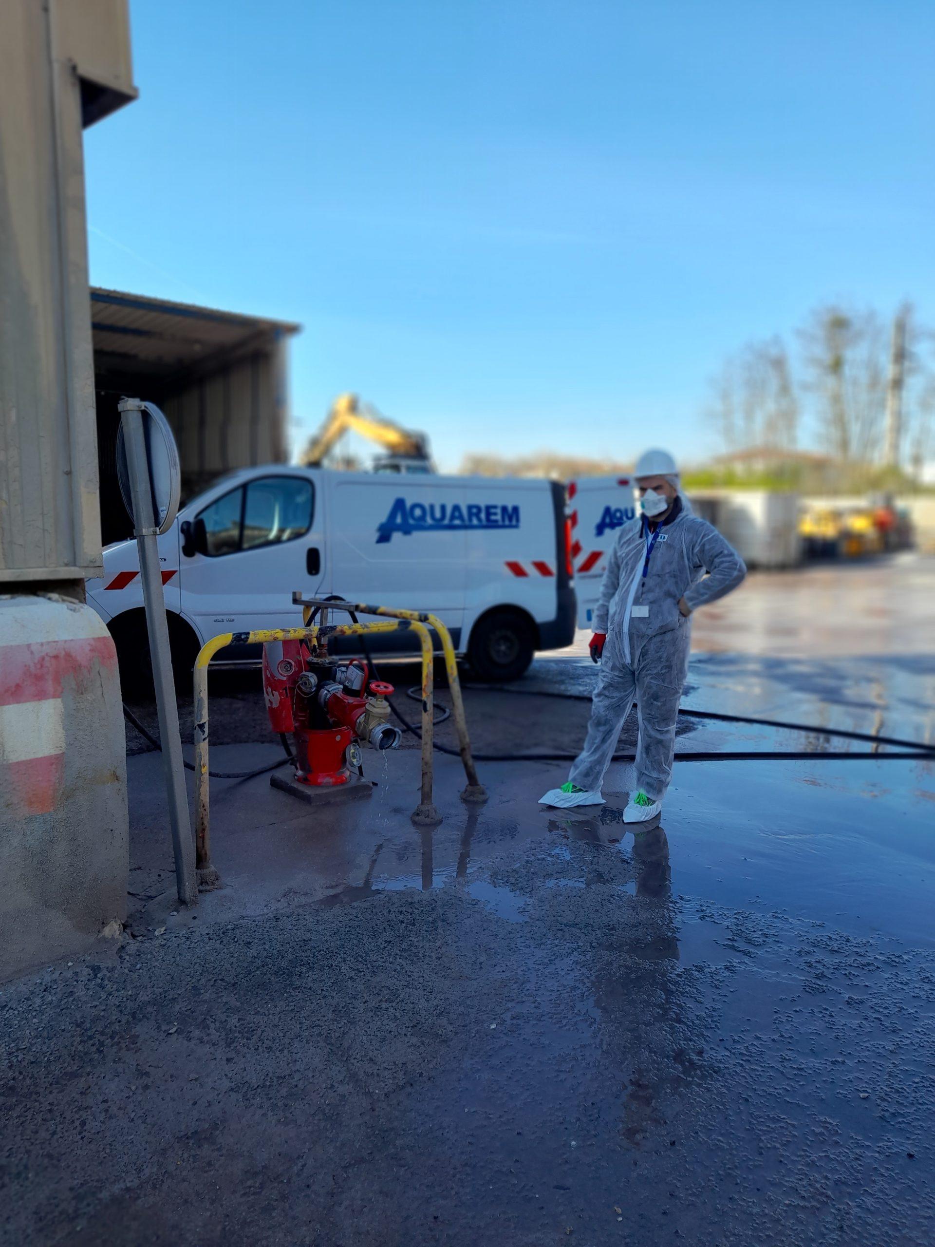 contrôle du dispositif de défense extérieure contre l'incendie sur site sensible recylex Arnas 69400